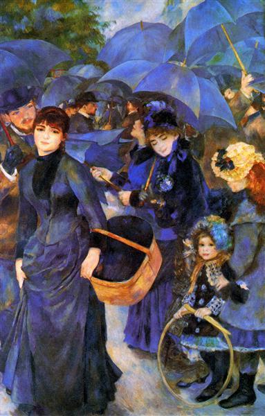 Os Guarda-chuvas, 1885 - 1886 - Pierre-Auguste Renoir - WikiArt.org 77443cc0a2