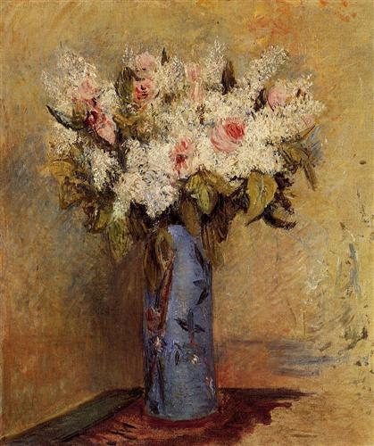 Vase of Lilacs and Roses - Пьер Огюст Ренуар