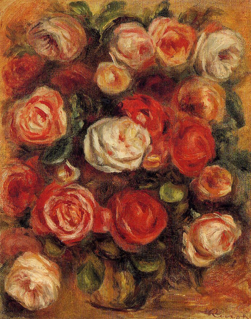 Vase Of Roses Pierre Auguste Renoir Wikiart Org