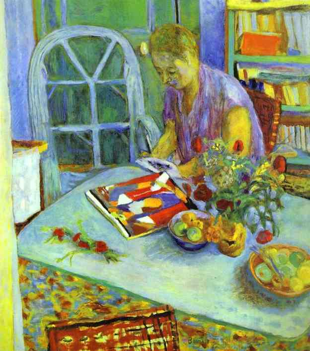 a woman in a room, 1925 - pierre bonnard - wikiart