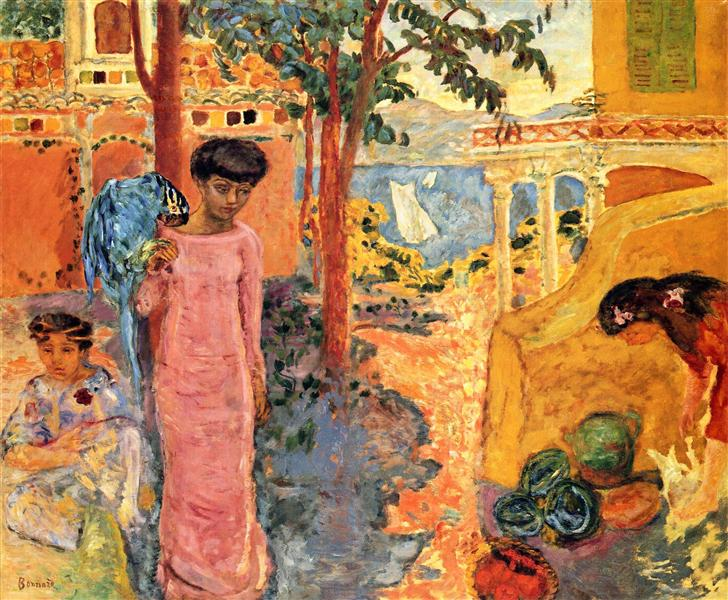 Girl with Parrot, 1910 - Pierre Bonnard