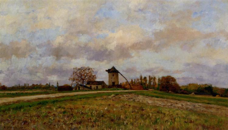Paysage Au Moulin - Pierre Emmanuel Damoye