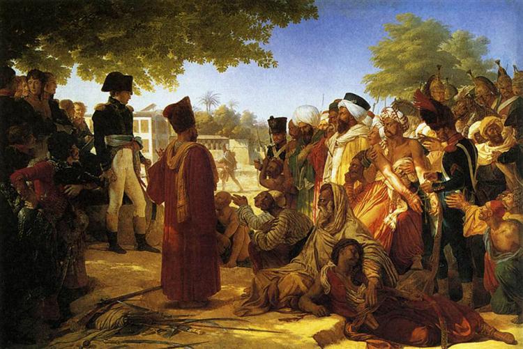 Napoleon Bonaparte  Pardoning the Rebels at Cairo - Pierre-Narcisse Guerin