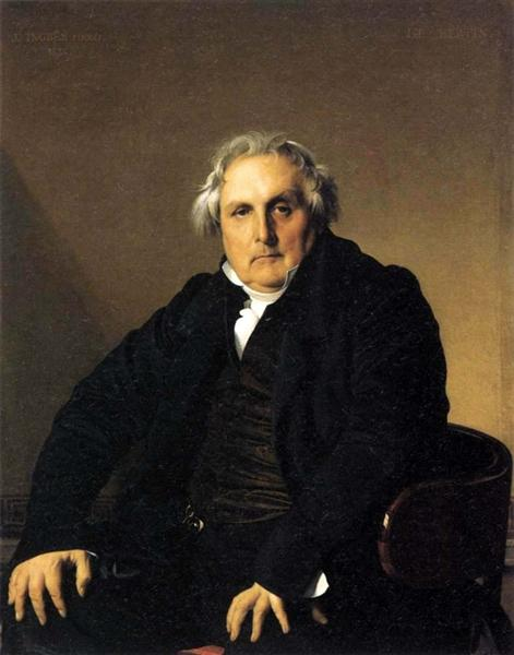 Portrait of French journalist Louis-François Bertin - Жан Огюст Доминик Энгр