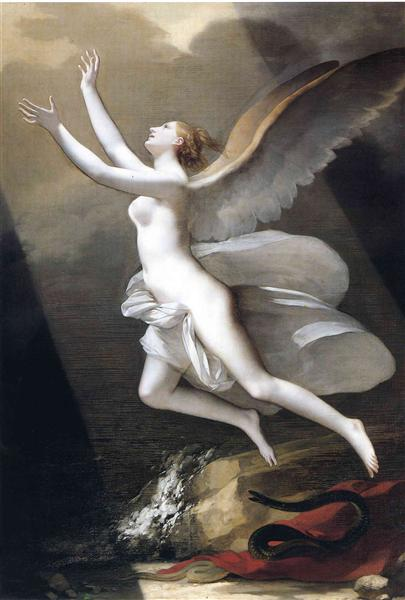 The soul breaking the bonds that attach to the land - Pierre-Paul Prud'hon