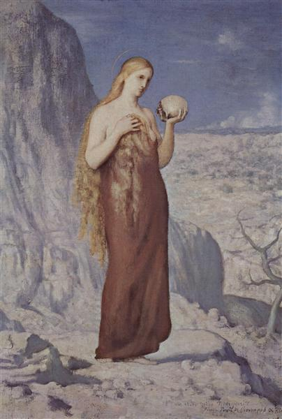 Mary Magdalene in the Desert, 1869 - Pierre Puvis de Chavannes