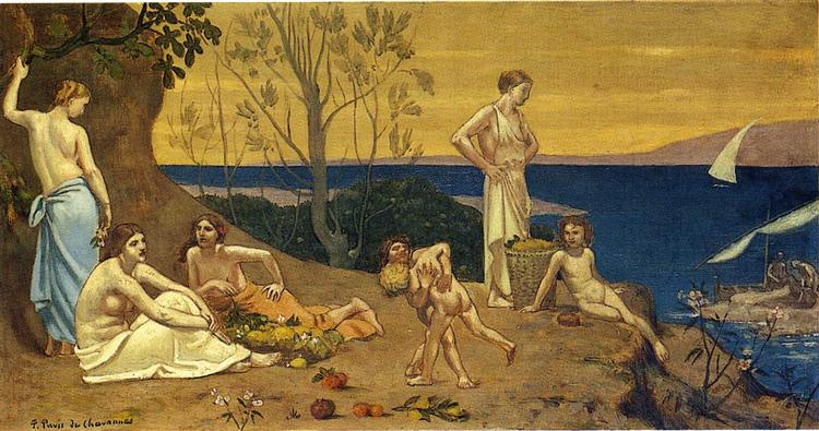The Happy Land, 1882 - Pierre Puvis de Chavannes