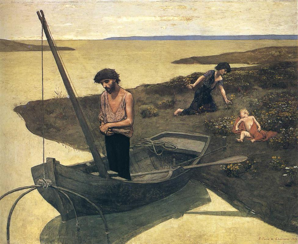 themes in pierre puvis de chavannes painting the poor fisherman My last blog looked at the early life of pierre puvis de chavannes as well as  feature a series of four large wall paintings he completed in the.