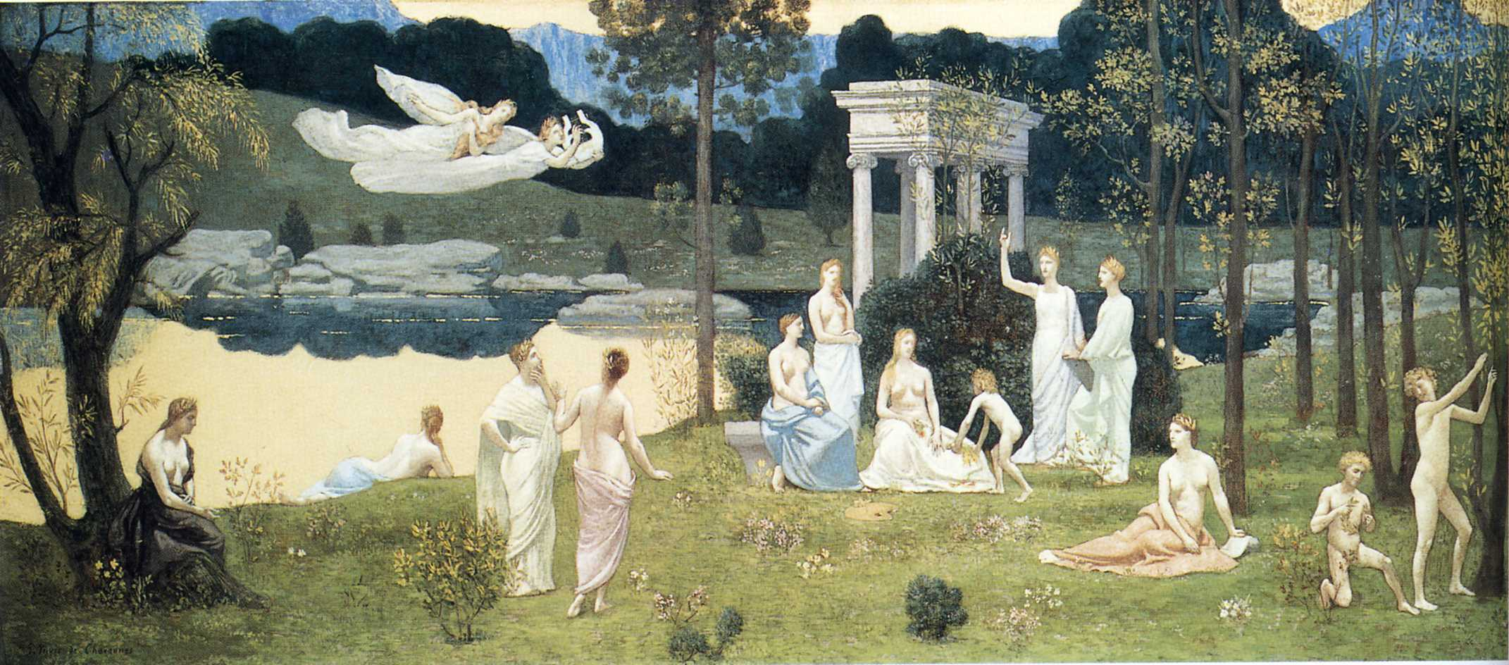 The Sacred Wood Cherished by the Arts and the Muses, 1884-1889