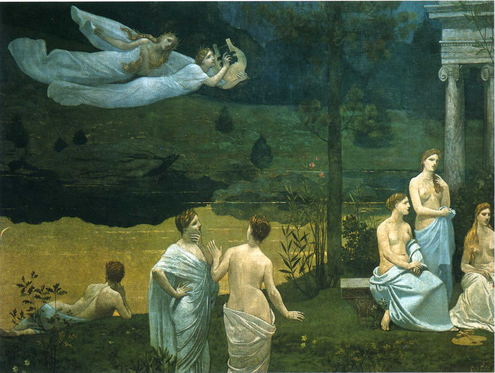 The Sacred Wood Cherished by the Arts and the Muses (detail), 1884-1889
