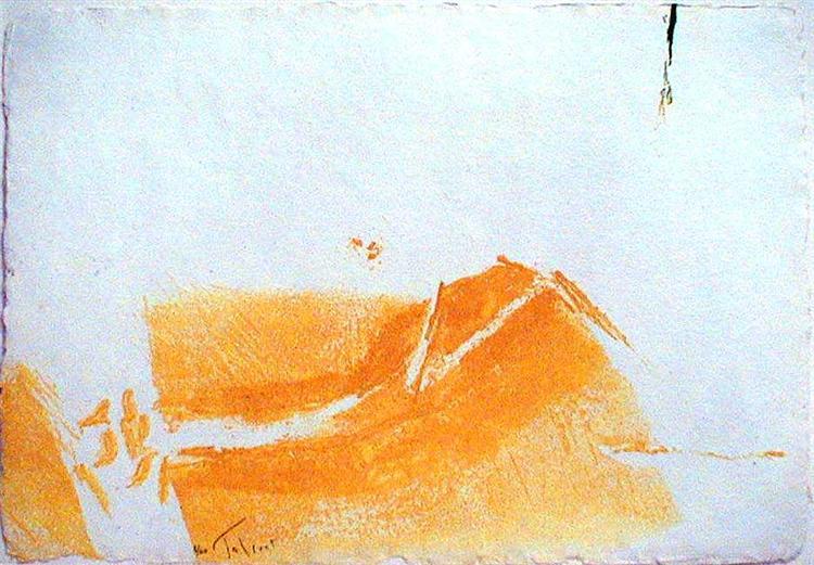 Mèches d'herbes, 1978 - Pierre Tal-Coat