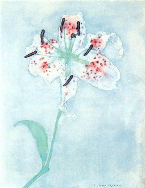 Lily, 1921 - Piet Mondrian