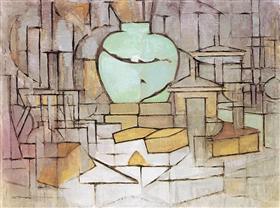 Still Life with Gingerpot 2 - Piet Mondrian