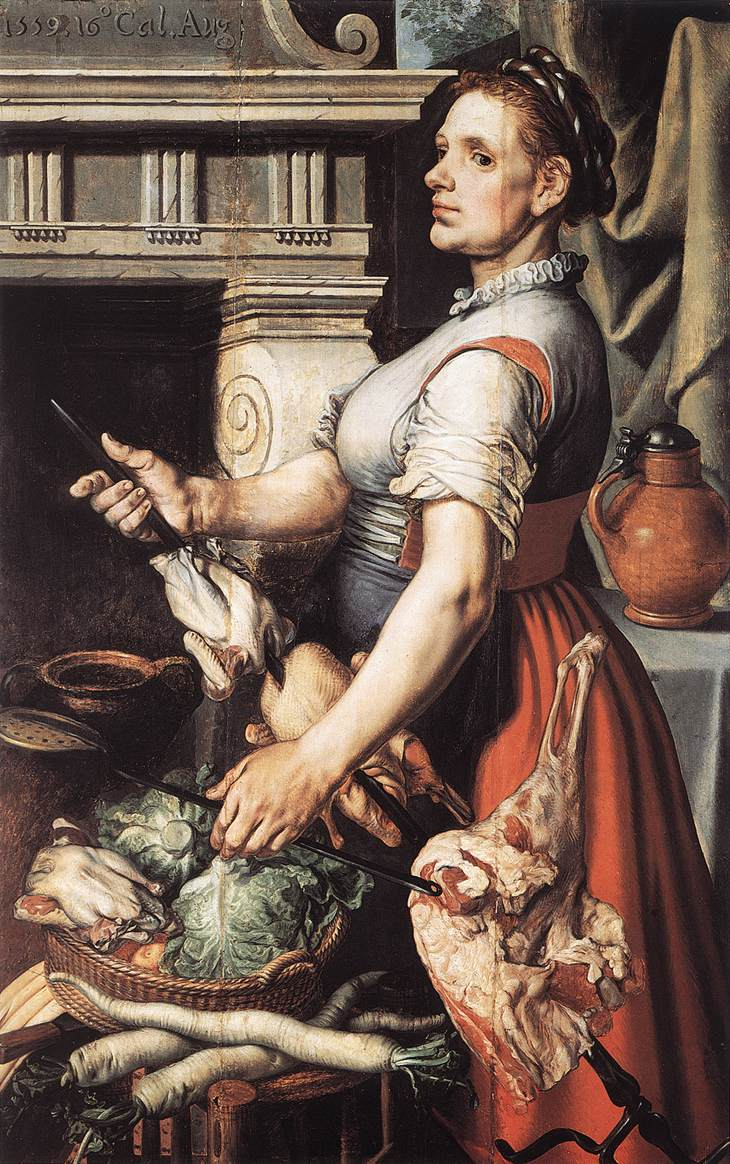 Cook in front of the Stove, 1559
