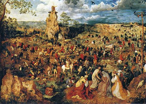Christ carrying the Cross - Pieter Bruegel the Elder