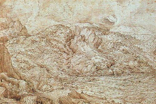 Landscape of the Alps - Pieter Bruegel the Elder