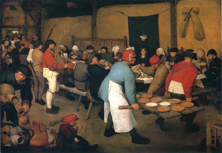 Peasant Wedding, 1568 - Pieter Bruegel the Elder