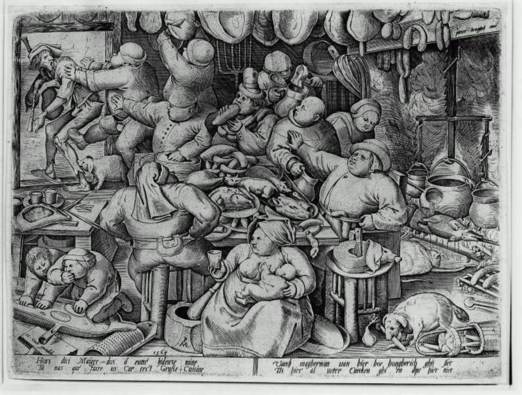 The Fat Kitchen, 1563 - Pieter Bruegel the Elder