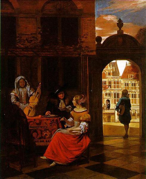 A Musical Party, 1677 - Pieter de Hooch