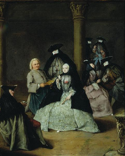 Masked Party in a Courtyard, 1755 - Pietro Longhi