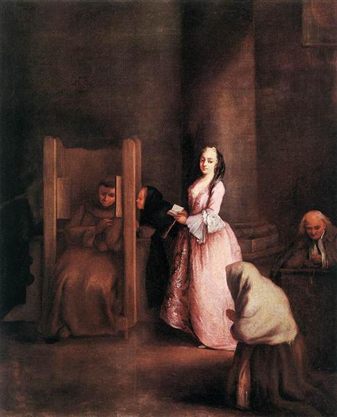 The Confession - Pietro Longhi