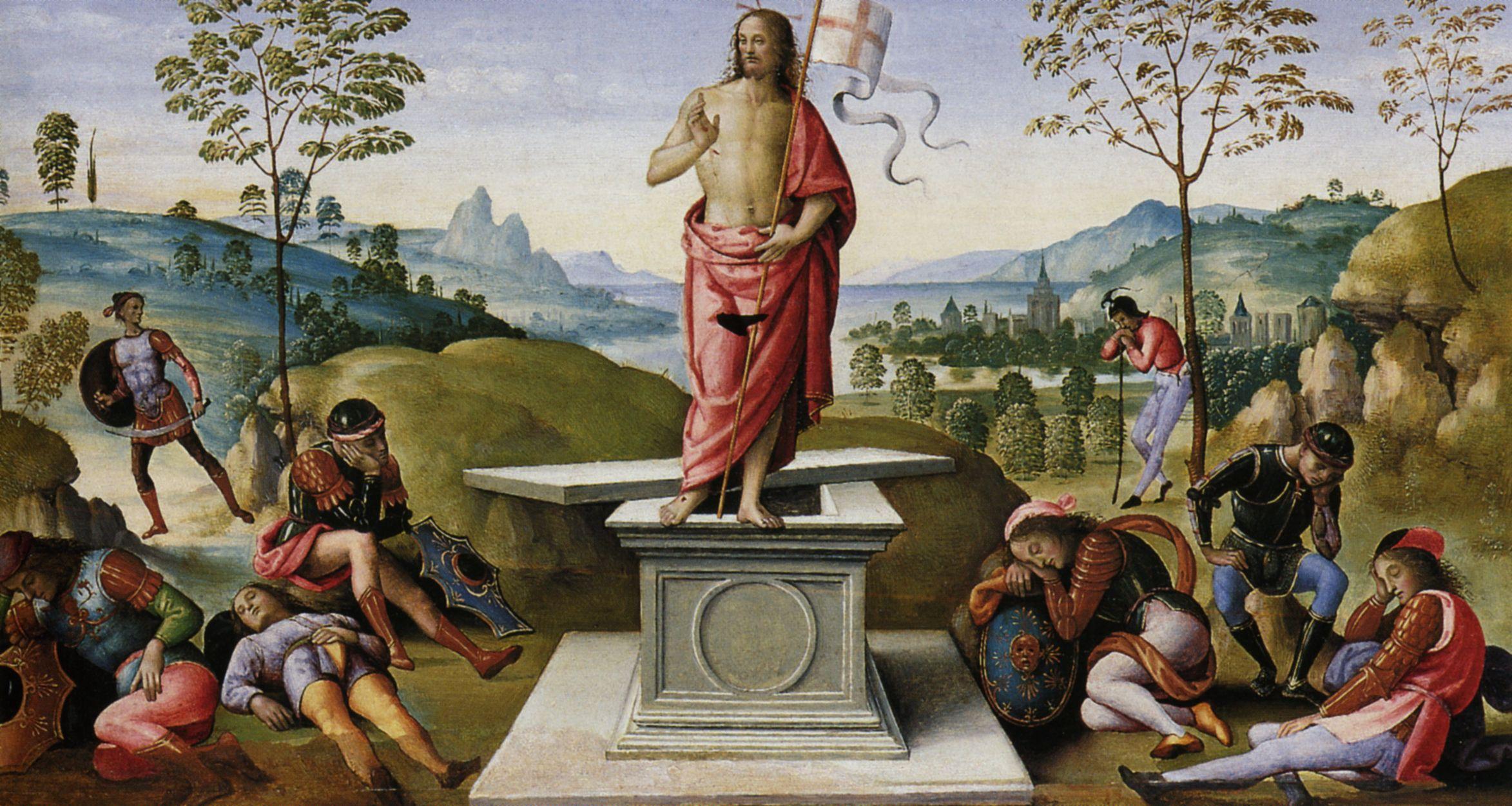 Resultado de imagem para resurrection of christ by pietro perugino