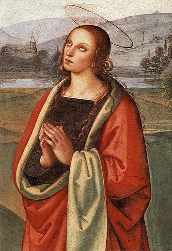 The Pazzi Crucifixion (detail 2) - Pietro Perugino