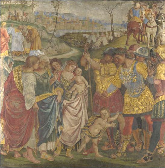 Riconciliazione di Coriolano, 1509 - Pinturicchio
