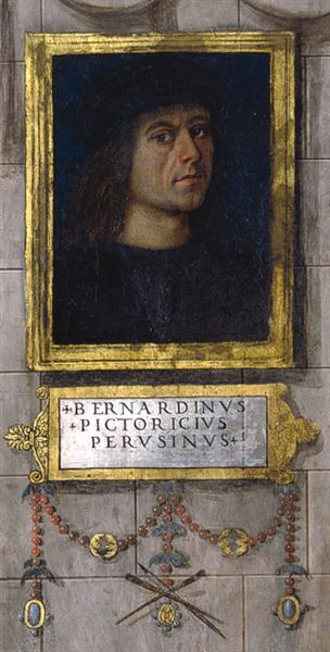 Self-portrait in the Baglioni Chapel, 1501 - Pinturicchio