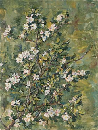Flowering apple branch, 1935