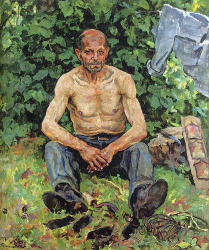 Portrait of mole-catcher Fedor Petrovich, 1938