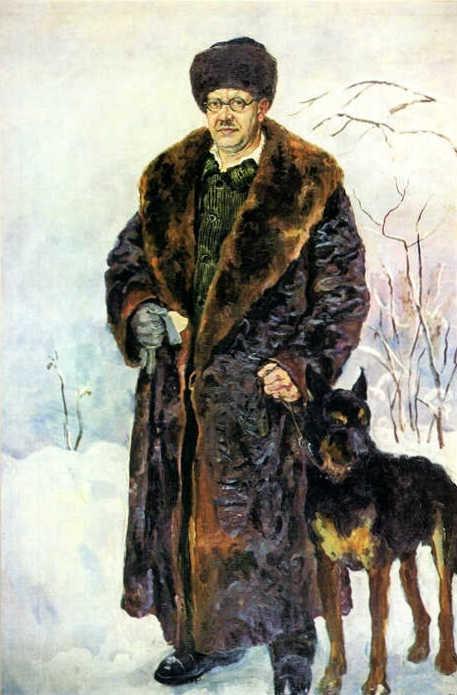 Self-portrait with dog, 1933