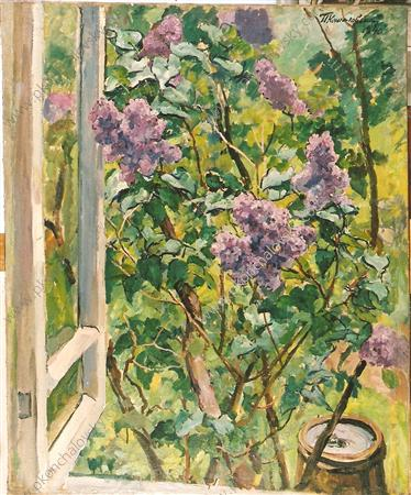 Still Life. Lilacs in the window., 1940