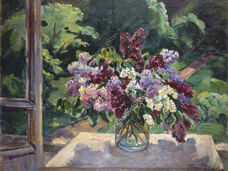 Still Life. Lilacs on the window., 1935