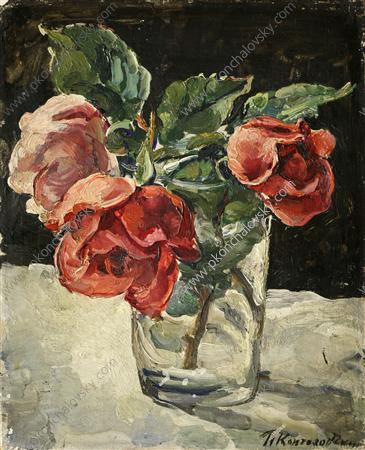 Still Life. Three roses., 1935 - Pyotr Konchalovsky