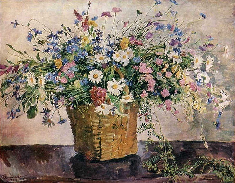 Still Life. Wildflowers., 1938