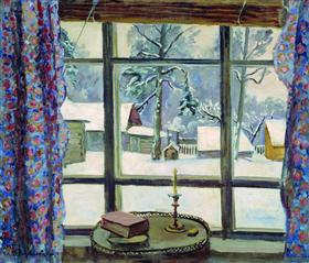 The window of the poet - Pyotr Konchalovsky
