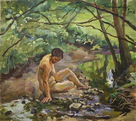 The woman at the creek, 1932