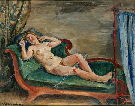 Woman on sofa, 1930