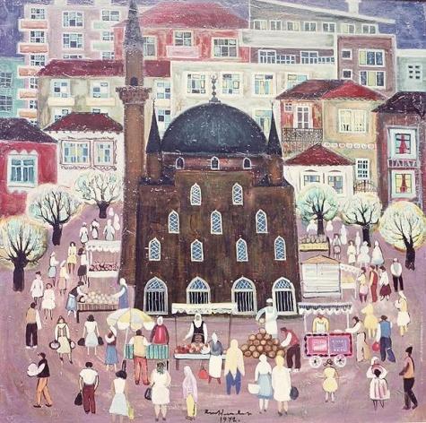 Mosque in Razgrad, 1972 - Radi Nedelchev