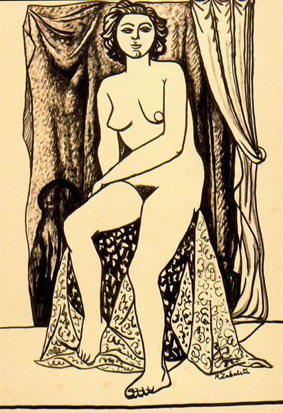 Female nude - Rafael Zabaleta
