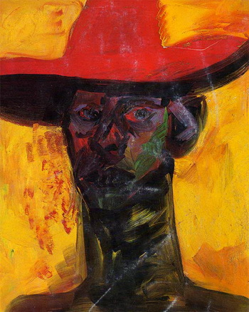 Self with Red Hat, 1985 - Rainer Fetting
