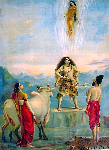Ganga Avataran or Descent of Ganga, 1910 - Raja Ravi Varma