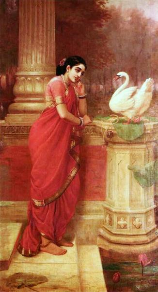 Hamsa Damayanti, 1899 - Ravi Varma