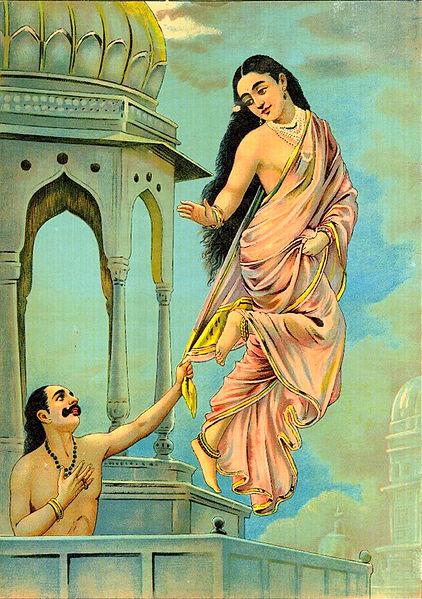 Urvashi and pururavas - Ravi Varmâ