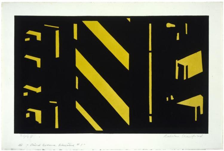 Third Avenue Elevated #1 1951 - Ralston Crawford