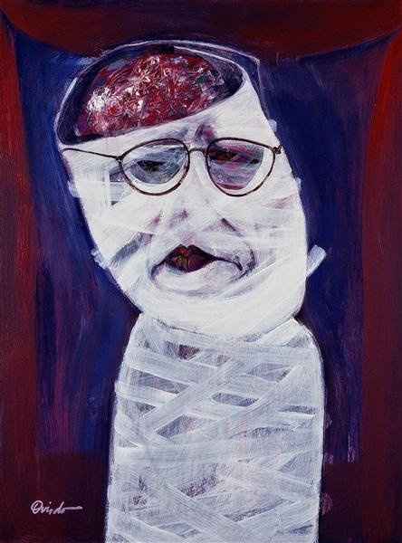 Auto retrato en blanco (self portrait in white), 1998 - Ramon Oviedo