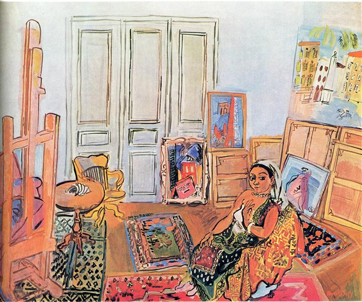 Indian Model in the Studio at l'impasse Guelman, 1928 - Raoul Dufy