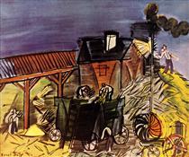 Treading the blue sky - Raoul Dufy