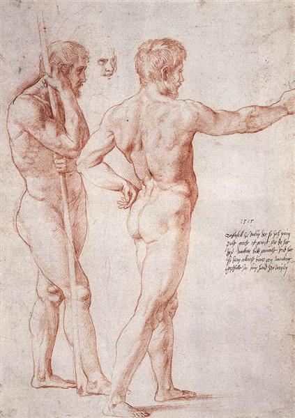 Nude Study, c.1515 - Raphael